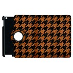 HOUNDSTOOTH1 BLACK MARBLE & RUSTED METAL Apple iPad 3/4 Flip 360 Case Front