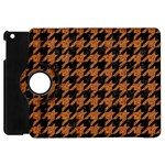 HOUNDSTOOTH1 BLACK MARBLE & RUSTED METAL Apple iPad Mini Flip 360 Case Front