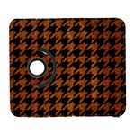 HOUNDSTOOTH1 BLACK MARBLE & RUSTED METAL Galaxy S3 (Flip/Folio) Front