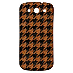 Houndstooth1 Black Marble & Rusted Metal Samsung Galaxy S3 S Iii Classic Hardshell Back Case