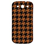 HOUNDSTOOTH1 BLACK MARBLE & RUSTED METAL Samsung Galaxy S3 S III Classic Hardshell Back Case Front