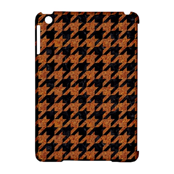 HOUNDSTOOTH1 BLACK MARBLE & RUSTED METAL Apple iPad Mini Hardshell Case (Compatible with Smart Cover)