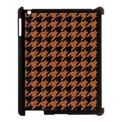 Houndstooth1 Black Marble & Rusted Metal Apple Ipad 3/4 Case (black)