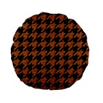 HOUNDSTOOTH1 BLACK MARBLE & RUSTED METAL Standard 15  Premium Round Cushions Front