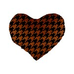 HOUNDSTOOTH1 BLACK MARBLE & RUSTED METAL Standard 16  Premium Heart Shape Cushions Back