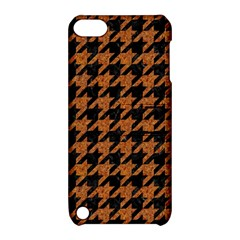 Houndstooth1 Black Marble & Rusted Metal Apple Ipod Touch 5 Hardshell Case With Stand