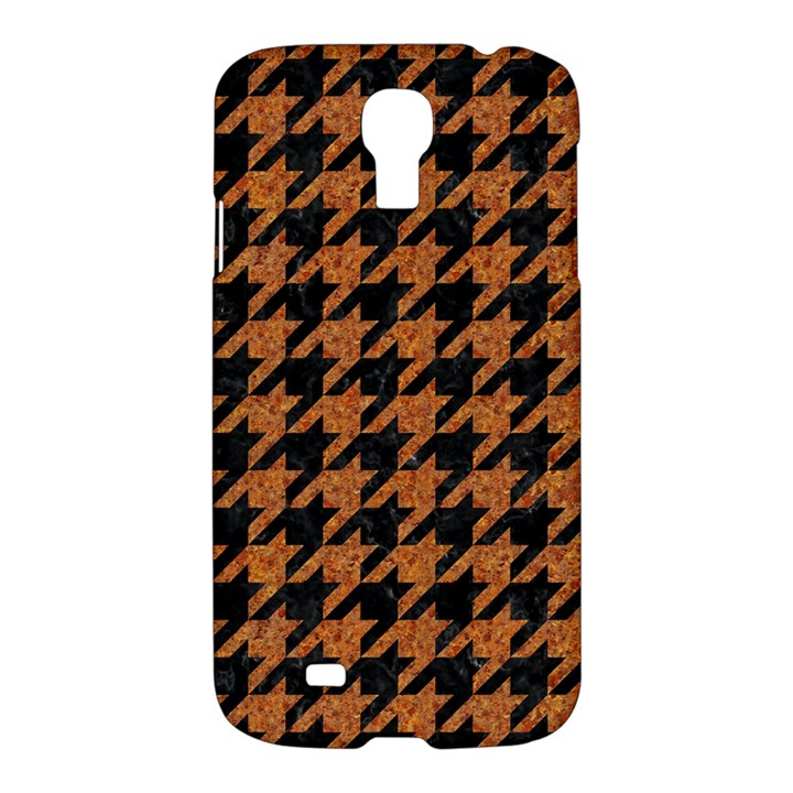 HOUNDSTOOTH1 BLACK MARBLE & RUSTED METAL Samsung Galaxy S4 I9500/I9505 Hardshell Case