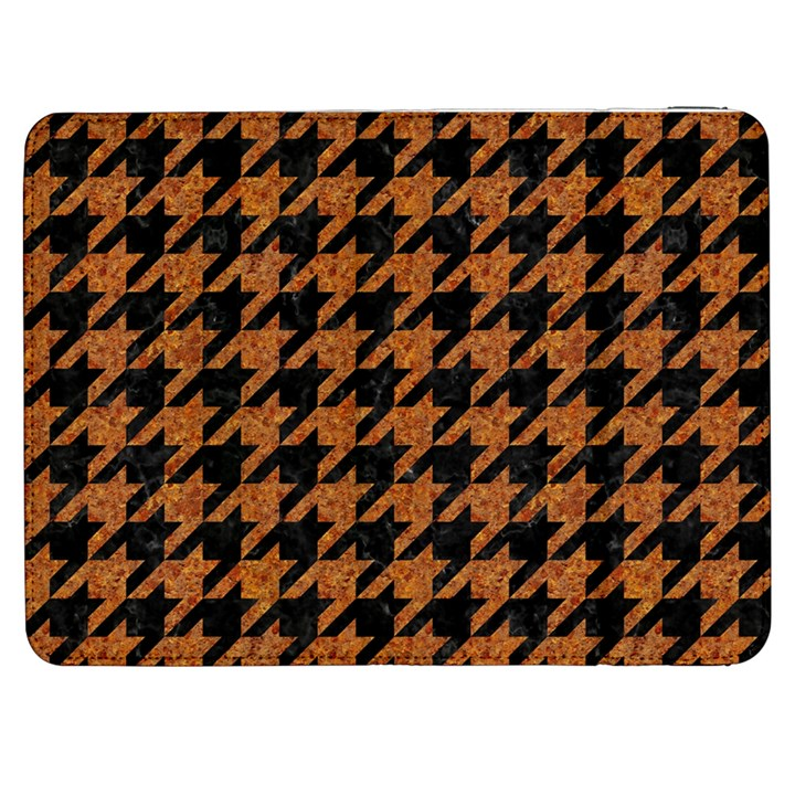 HOUNDSTOOTH1 BLACK MARBLE & RUSTED METAL Samsung Galaxy Tab 7  P1000 Flip Case