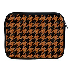 Houndstooth1 Black Marble & Rusted Metal Apple Ipad 2/3/4 Zipper Cases