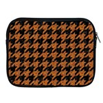 HOUNDSTOOTH1 BLACK MARBLE & RUSTED METAL Apple iPad 2/3/4 Zipper Cases Front