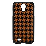 HOUNDSTOOTH1 BLACK MARBLE & RUSTED METAL Samsung Galaxy S4 I9500/ I9505 Case (Black) Front