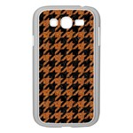 HOUNDSTOOTH1 BLACK MARBLE & RUSTED METAL Samsung Galaxy Grand DUOS I9082 Case (White) Front