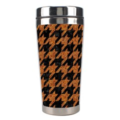 Houndstooth1 Black Marble & Rusted Metal Stainless Steel Travel Tumblers