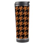 HOUNDSTOOTH1 BLACK MARBLE & RUSTED METAL Travel Tumbler Left