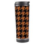 HOUNDSTOOTH1 BLACK MARBLE & RUSTED METAL Travel Tumbler Center