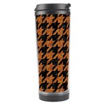 HOUNDSTOOTH1 BLACK MARBLE & RUSTED METAL Travel Tumbler Right