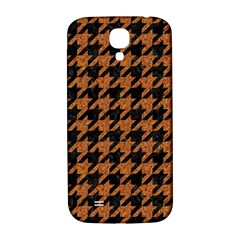 Houndstooth1 Black Marble & Rusted Metal Samsung Galaxy S4 I9500/i9505  Hardshell Back Case