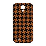 HOUNDSTOOTH1 BLACK MARBLE & RUSTED METAL Samsung Galaxy S4 I9500/I9505  Hardshell Back Case Front