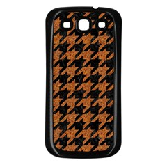 Houndstooth1 Black Marble & Rusted Metal Samsung Galaxy S3 Back Case (black)