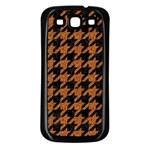HOUNDSTOOTH1 BLACK MARBLE & RUSTED METAL Samsung Galaxy S3 Back Case (Black) Front