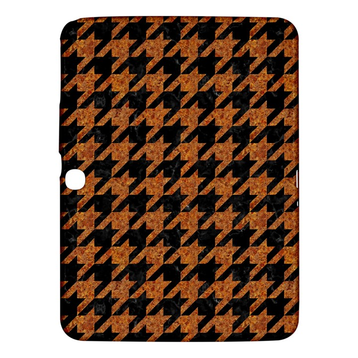 HOUNDSTOOTH1 BLACK MARBLE & RUSTED METAL Samsung Galaxy Tab 3 (10.1 ) P5200 Hardshell Case