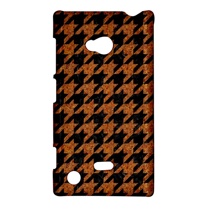 HOUNDSTOOTH1 BLACK MARBLE & RUSTED METAL Nokia Lumia 720