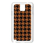 HOUNDSTOOTH1 BLACK MARBLE & RUSTED METAL Samsung Galaxy Note 3 N9005 Case (White) Front