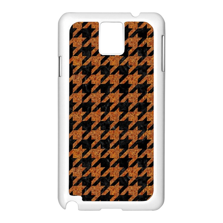 HOUNDSTOOTH1 BLACK MARBLE & RUSTED METAL Samsung Galaxy Note 3 N9005 Case (White)