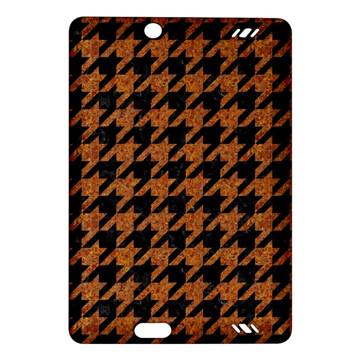 HOUNDSTOOTH1 BLACK MARBLE & RUSTED METAL Amazon Kindle Fire HD (2013) Hardshell Case