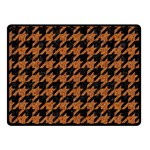 HOUNDSTOOTH1 BLACK MARBLE & RUSTED METAL Double Sided Fleece Blanket (Small)  45 x34 Blanket Front