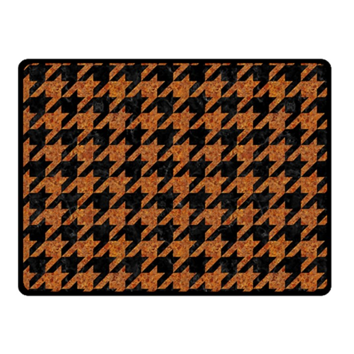 HOUNDSTOOTH1 BLACK MARBLE & RUSTED METAL Double Sided Fleece Blanket (Small)