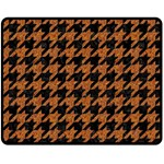 HOUNDSTOOTH1 BLACK MARBLE & RUSTED METAL Double Sided Fleece Blanket (Medium)  58.8 x47.4 Blanket Front