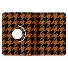 Houndstooth1 Black Marble & Rusted Metal Kindle Fire Hdx Flip 360 Case