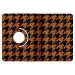 HOUNDSTOOTH1 BLACK MARBLE & RUSTED METAL Kindle Fire HDX Flip 360 Case Front