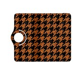 HOUNDSTOOTH1 BLACK MARBLE & RUSTED METAL Kindle Fire HDX 8.9  Flip 360 Case Front