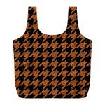 HOUNDSTOOTH1 BLACK MARBLE & RUSTED METAL Full Print Recycle Bags (L)  Front