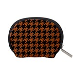 HOUNDSTOOTH1 BLACK MARBLE & RUSTED METAL Accessory Pouches (Small)  Back