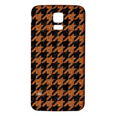 Houndstooth1 Black Marble & Rusted Metal Samsung Galaxy S5 Back Case (white)