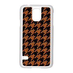 Houndstooth1 Black Marble & Rusted Metal Samsung Galaxy S5 Case (white)
