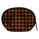 HOUNDSTOOTH1 BLACK MARBLE & RUSTED METAL Accessory Pouches (Medium)  Back
