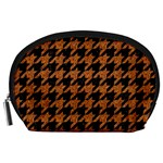 HOUNDSTOOTH1 BLACK MARBLE & RUSTED METAL Accessory Pouches (Large)  Front