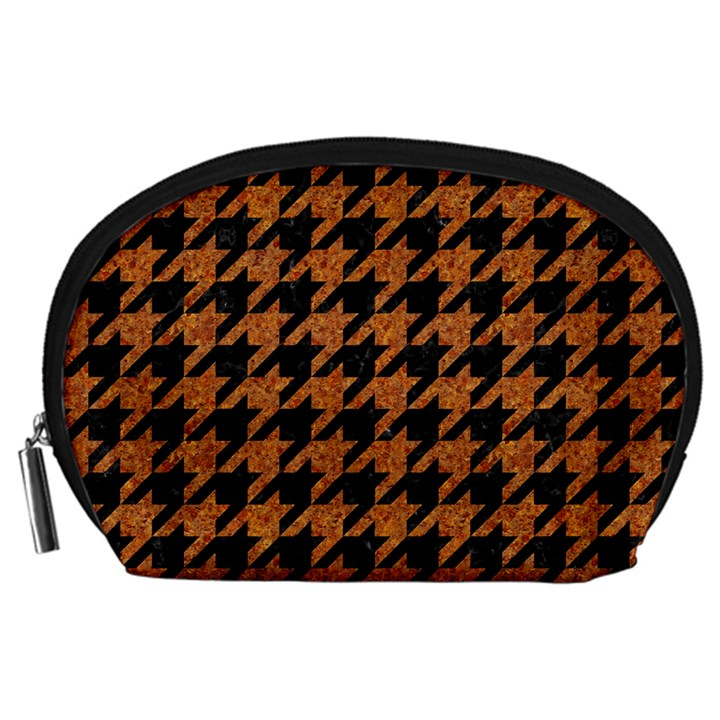 HOUNDSTOOTH1 BLACK MARBLE & RUSTED METAL Accessory Pouches (Large)