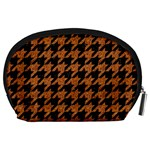HOUNDSTOOTH1 BLACK MARBLE & RUSTED METAL Accessory Pouches (Large)  Back