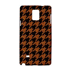 Houndstooth1 Black Marble & Rusted Metal Samsung Galaxy Note 4 Hardshell Case