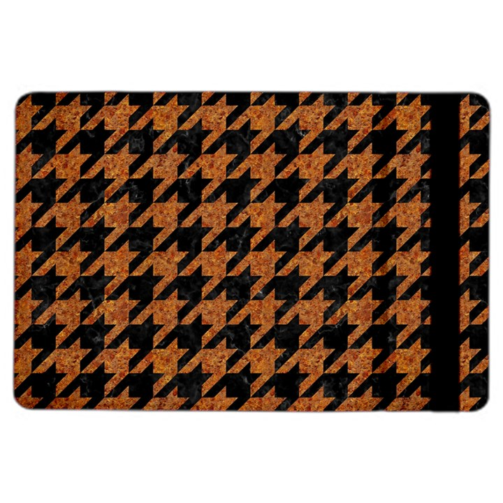 HOUNDSTOOTH1 BLACK MARBLE & RUSTED METAL iPad Air 2 Flip