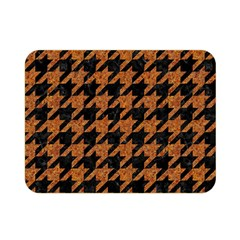Houndstooth1 Black Marble & Rusted Metal Double Sided Flano Blanket (mini)