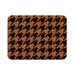 HOUNDSTOOTH1 BLACK MARBLE & RUSTED METAL Double Sided Flano Blanket (Mini)  35 x27 Blanket Front