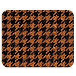 HOUNDSTOOTH1 BLACK MARBLE & RUSTED METAL Double Sided Flano Blanket (Medium)  60 x50 Blanket Back