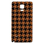 HOUNDSTOOTH1 BLACK MARBLE & RUSTED METAL Galaxy Note 4 Back Case Front