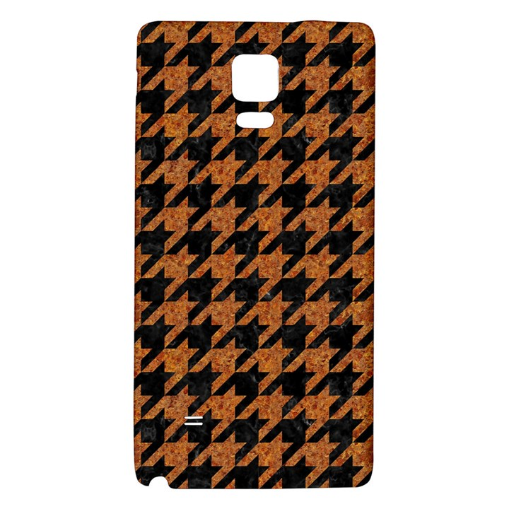 HOUNDSTOOTH1 BLACK MARBLE & RUSTED METAL Galaxy Note 4 Back Case